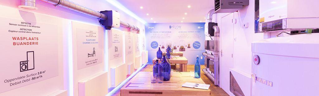 Jaga présente sa ventilation D-Flow dans un nouveau showroom