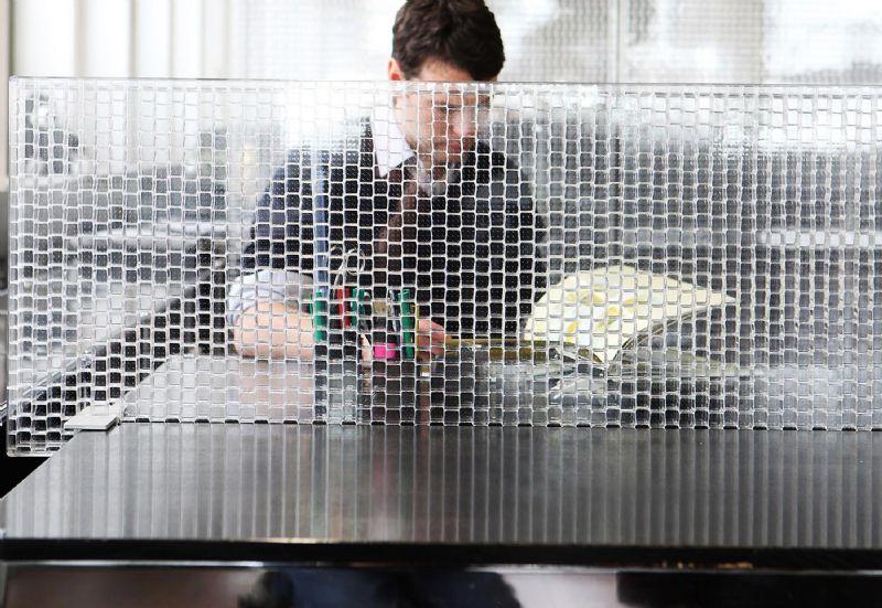 Améliorer l'acoustique des postes de travail grâce au panneau Rossoacoustic CP 30 de Nimbus