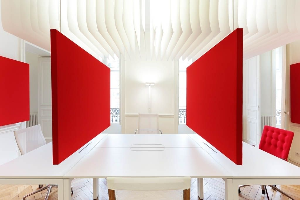 Des écrans acoustiques pour un aménagement Covid-19 des bureaux