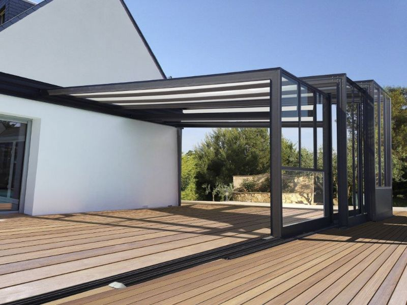 Het Home Aluminiumsysteem is geschikt voor zowel zwembaden als terrassen.
