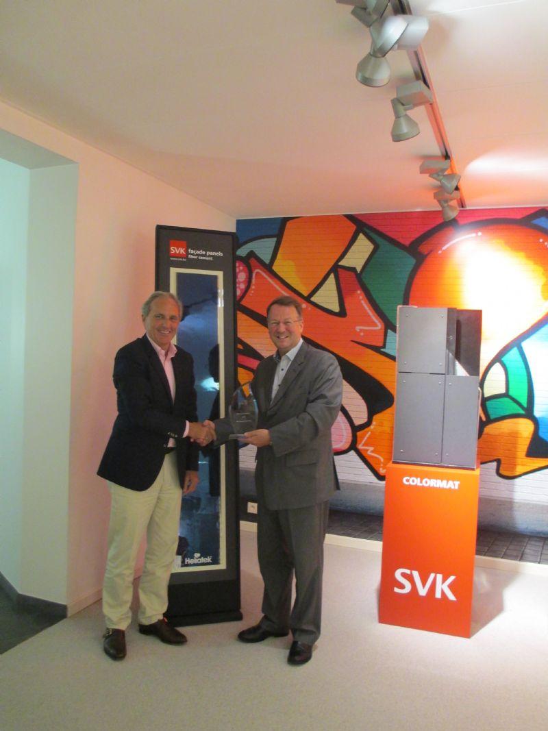 SVK en Heliatek winnen prijs voor beste productontwikkeling tijdens LOPEC 2016 in München