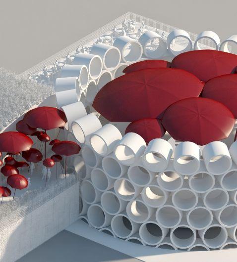 goedefroo+goedefroo architecten i.s.m. Franco Dragone, wedstrijdontwerp voor het Belgisch paviljoen voor de Expo van Milaan.