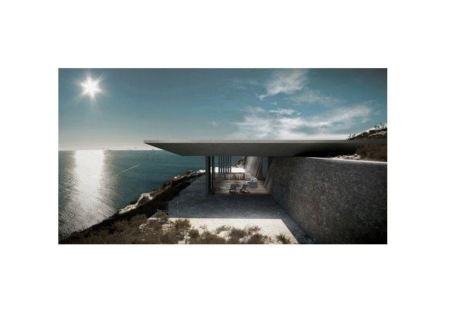De open living en terrasruimte biedt schaduw en verkoeling.