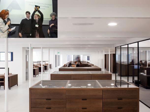 ARC13 Interieur-winnaar, het Noord-Hollands Archief door de ontwerpers van Happel Cornelisse Verhoeve.