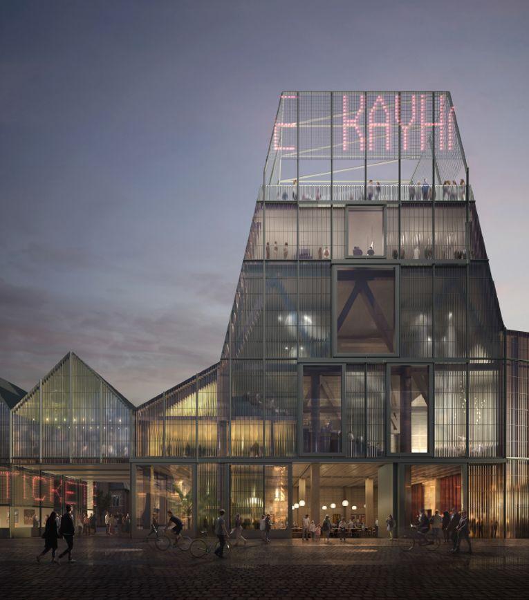 De nieuwe podiumkunstensite wordt een culturele pleisterplek annex stedelijke ontmoetingsplaats die meteen ook als hoeksteen voor de verdere ontwikkeling van de zogeheten 'benedenstad' kan fungeren. (Beeld: Forbes Massie Studio)
