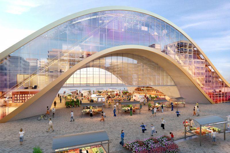 Dit gebouw ontworpen door B2Ai zal er dus nooit komen.