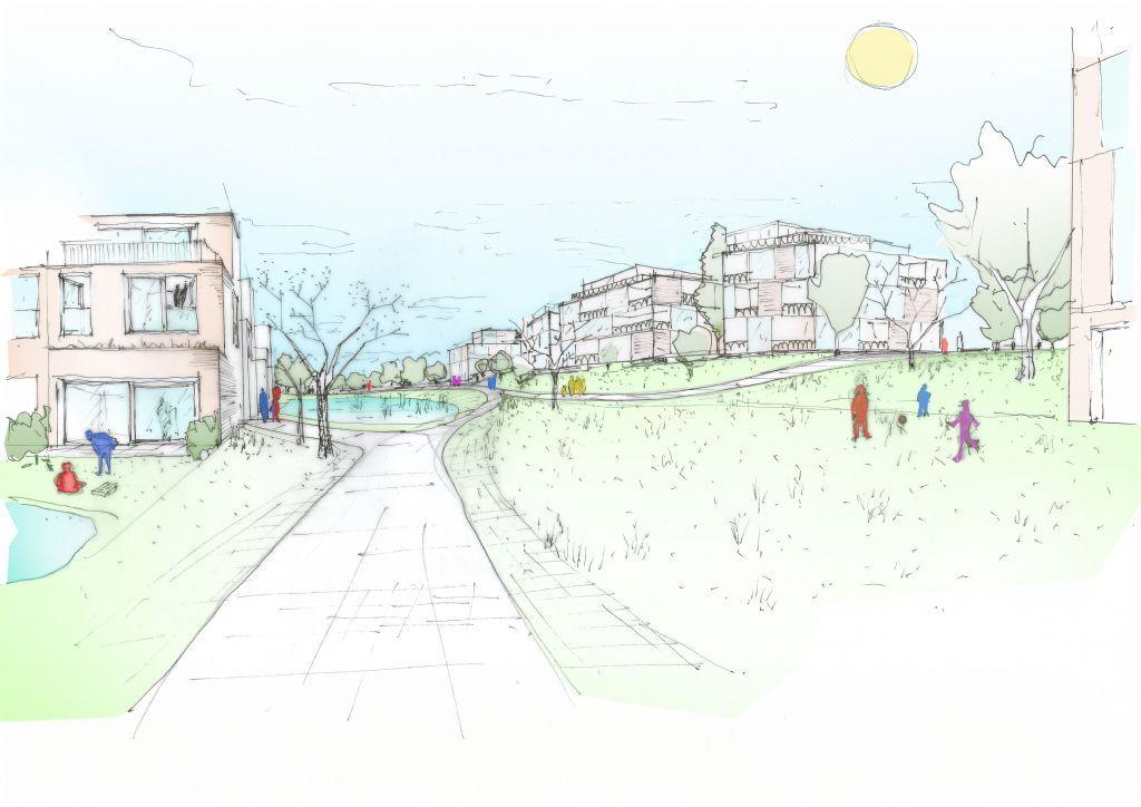 Iconische Kodakfabriek wordt een duurzame en groene woonwijk (Bontinck architecture & engineering)