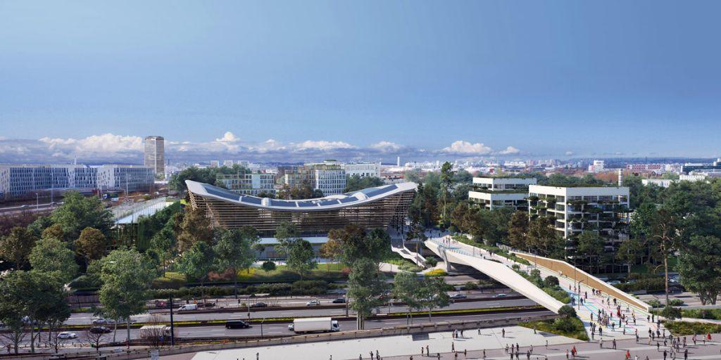 VenhoevenCS et Ateliers 2/3/4 ont conçu le Centre Aquatique des JO 2024