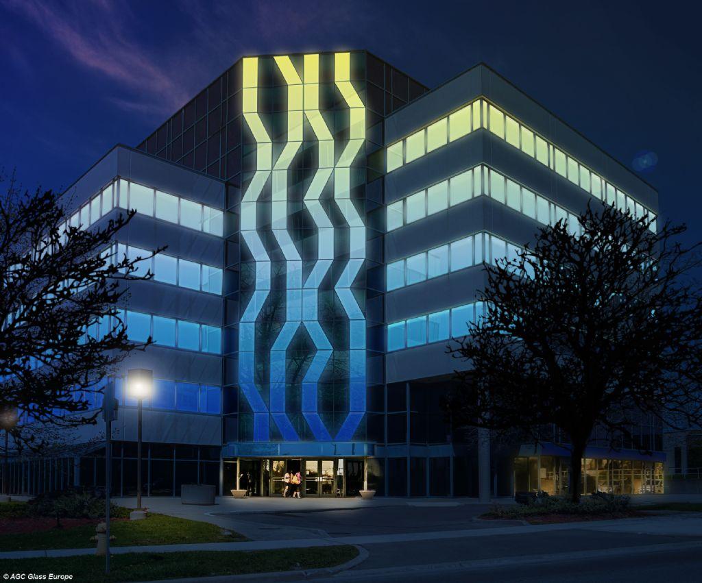 AGC zet stap vooruit inzake glas met geïntegreerde ledverlichting