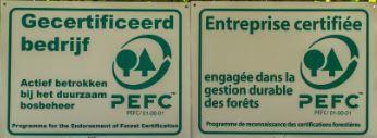 PEFC, of Programme for the Endorsement of Forest Certification, is een kwaliteitslabel dat milieubewuste bedrijven moet belonen.