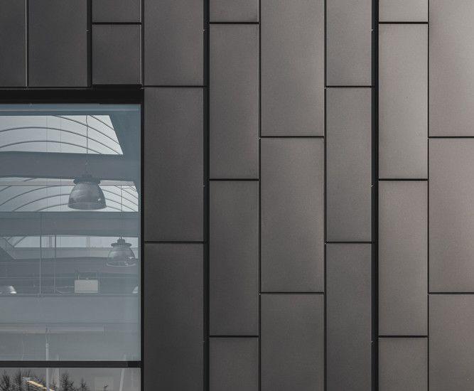 Des panneaux sandwiches et des cassettes de Kingspan pour la façade d'un showroom