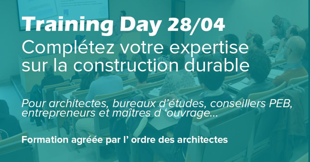 ISOPROC organise un Training day pour architectes à Perwez