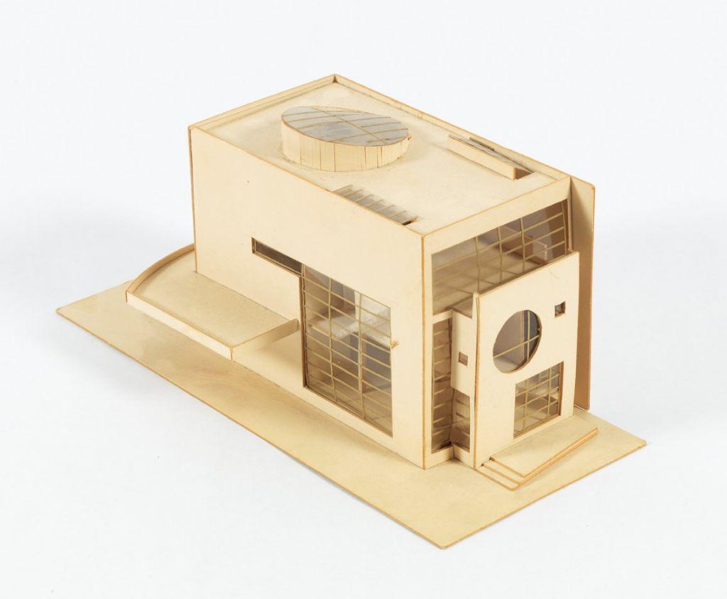 Christine Conix, Woning, Cogels-Osylei, Antwerpen (Berchem), 1990-92, Presentatiemaquette van het voorontwerp, ca. 1990.
