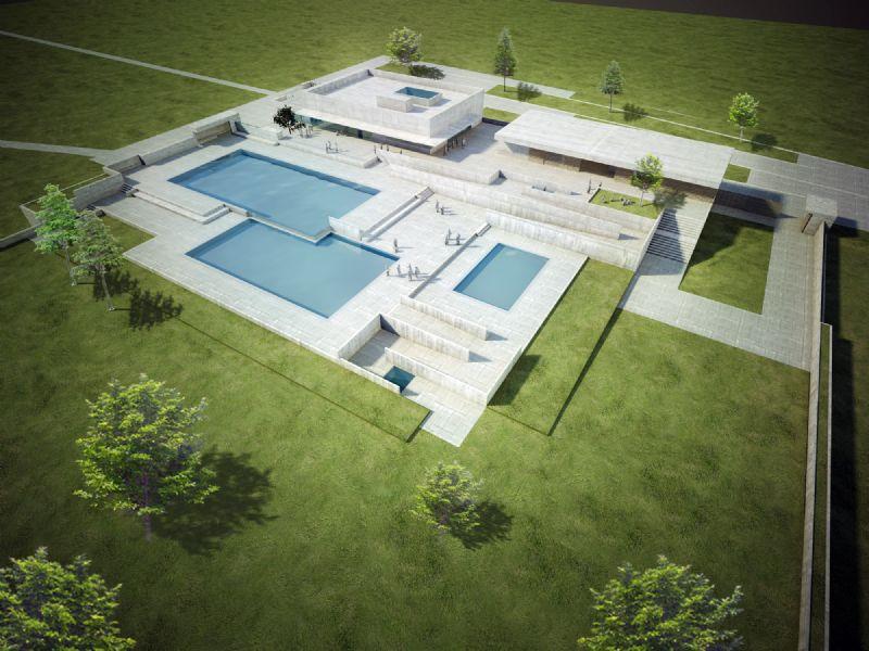 lnauguration de la piscine Plinius à Tongres (Venhoeven-Okra-Tractebel)