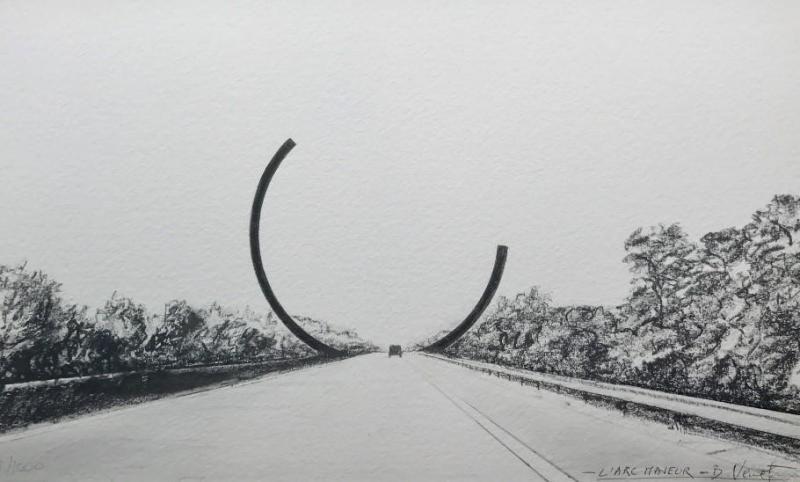 L'Arc Majeur sur la E411,  œuvre d'art mais surtout prouesse technique