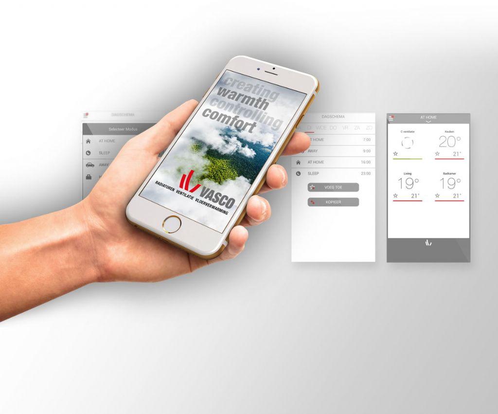 Vasco combineert regeling voor radiatoren, vloerverwarming en ventilatie in één app