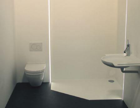 GF creëert prefab badkamer uit Solid Surface