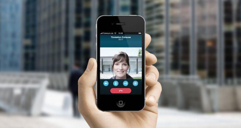 Smartphone app van Gira opent deuren