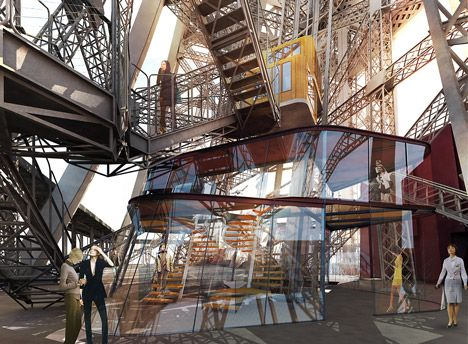 Bezoekers kunnen winkelen en dineren op een hoogte van 57 meter.