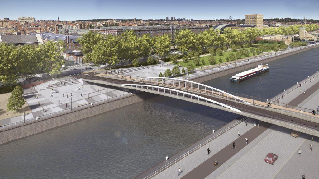 Début de chantier pour le pont Suzan Daniel à Bruxelles
