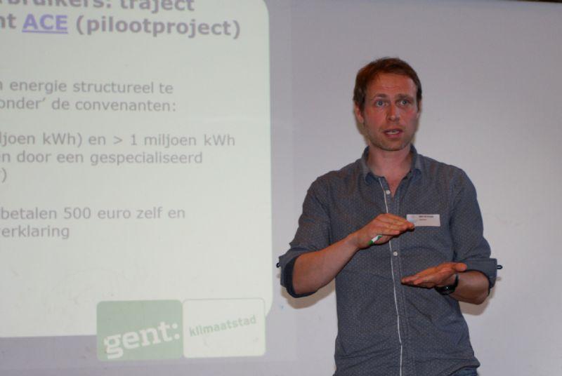 Björn De Grande van de stad Gent vertelt over het ESCO-project bij Gentse KMO's.