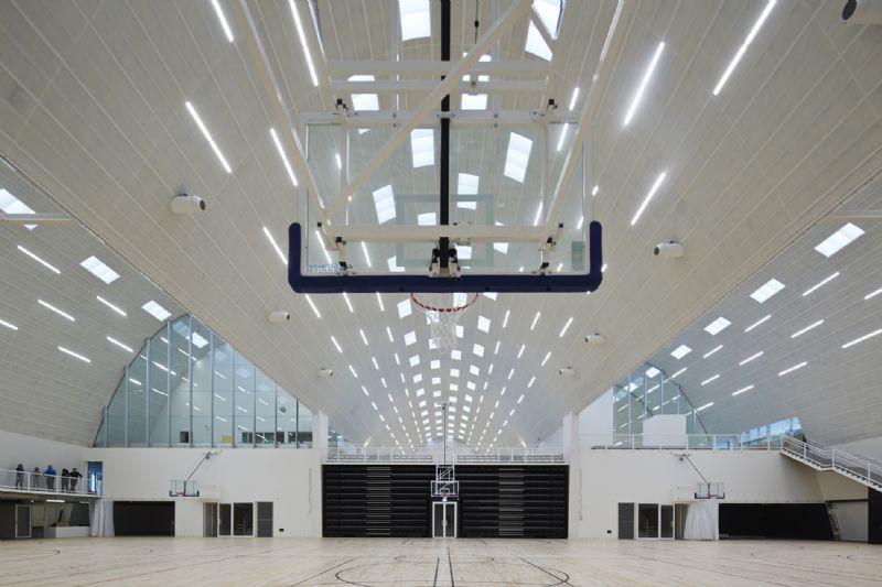 Ledverlichting toont detaillering sporthal Genk