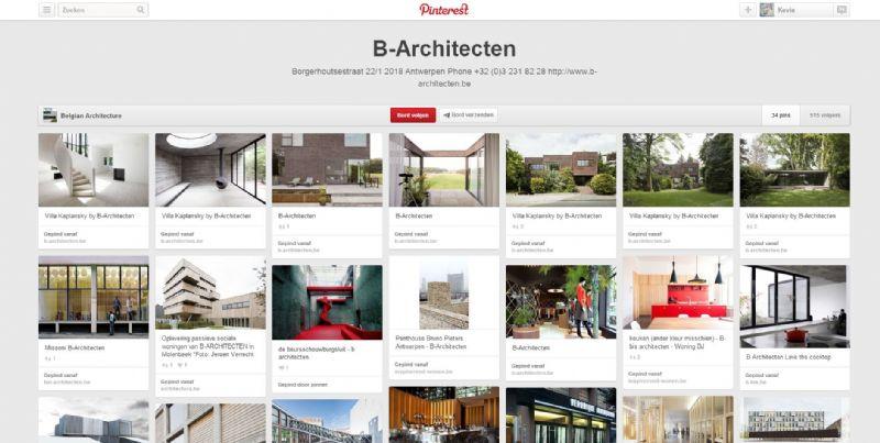 Het bord van B-architecten.