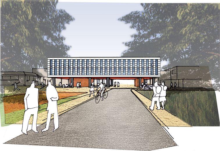 Het nieuwe gebouw vormt een fikse uitbreiding voor Campus Tichelrij.