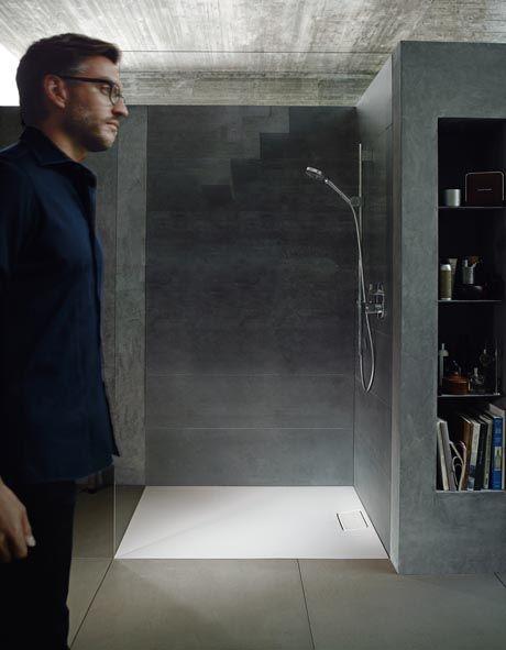 De Stonetto douchebakken zijn verkrijgbaar in wit, beige en antraciet.