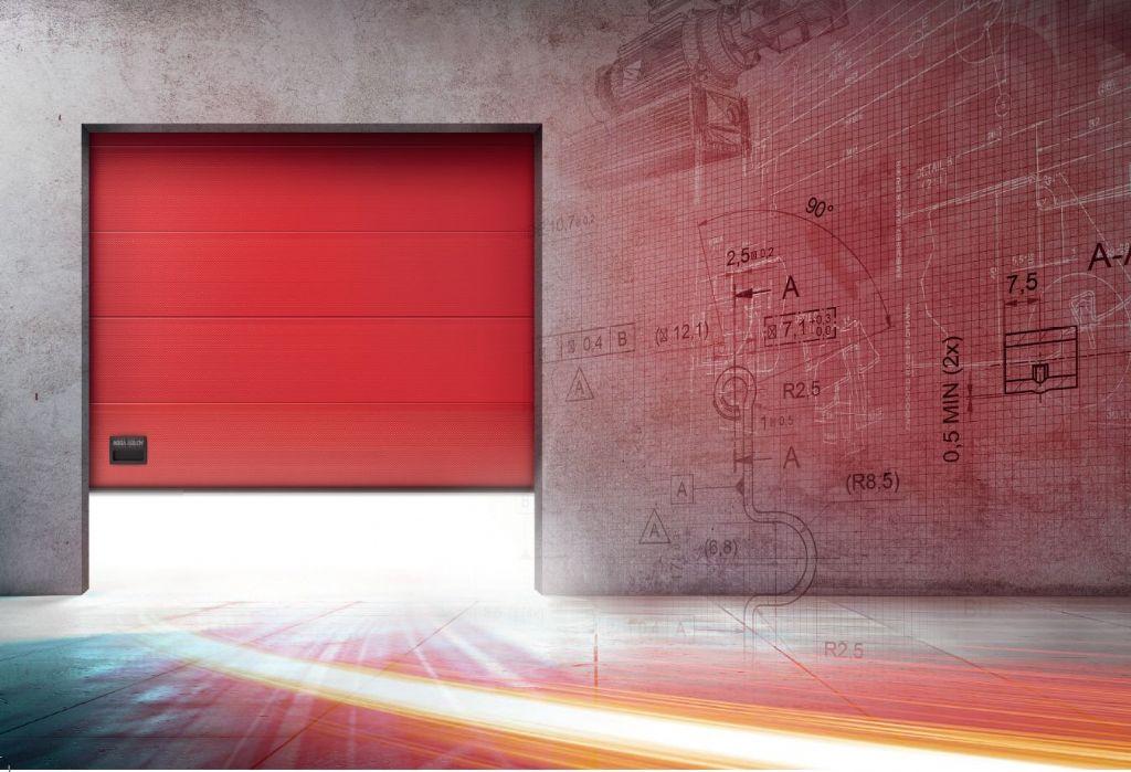 Nieuwe sectionale poort ontworpen voor snelheid, veiligheid en energiebesparing