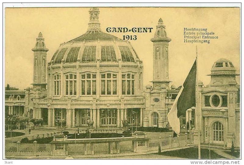 Hoofdingang Wereldtentoonstelling 1913