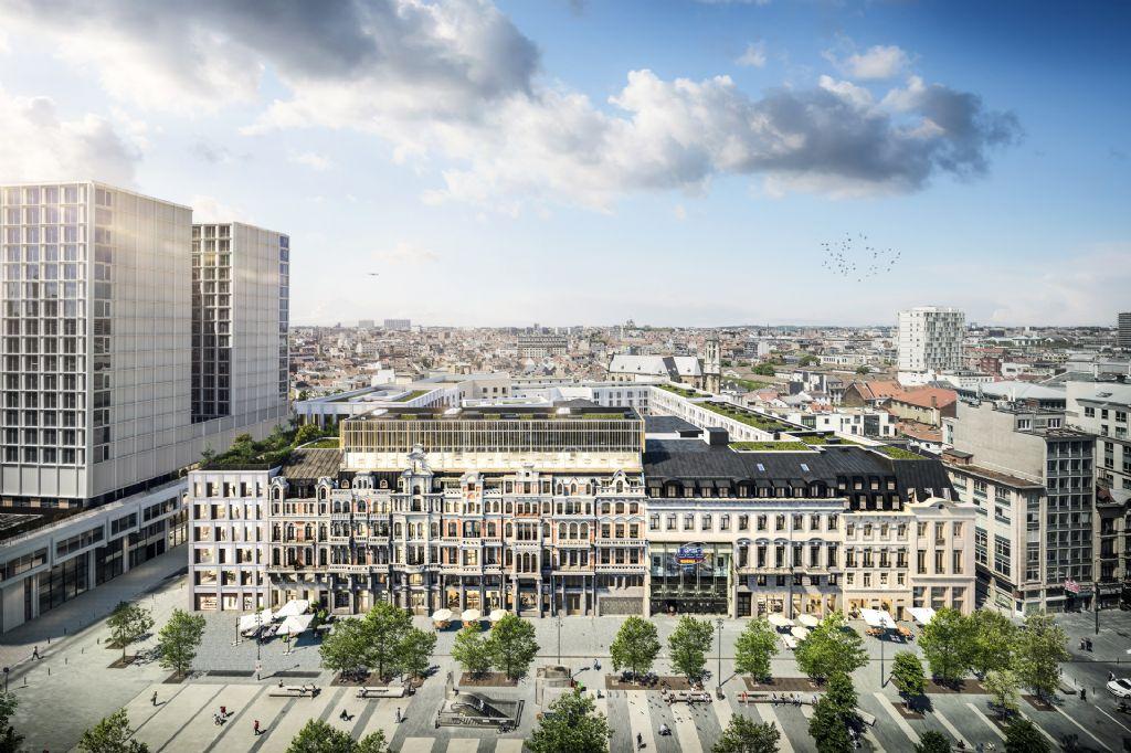 Brouck'R van Henning Larsen en A2RC blaast De Brouckèreplein in Brussel nieuw leven in