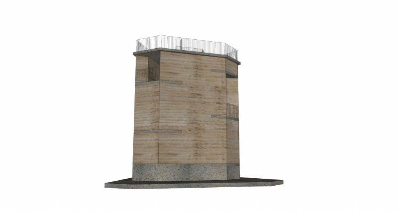 Uitkijktoren in natuurgebied Negenoord van de Gouden Liniaal Architecten