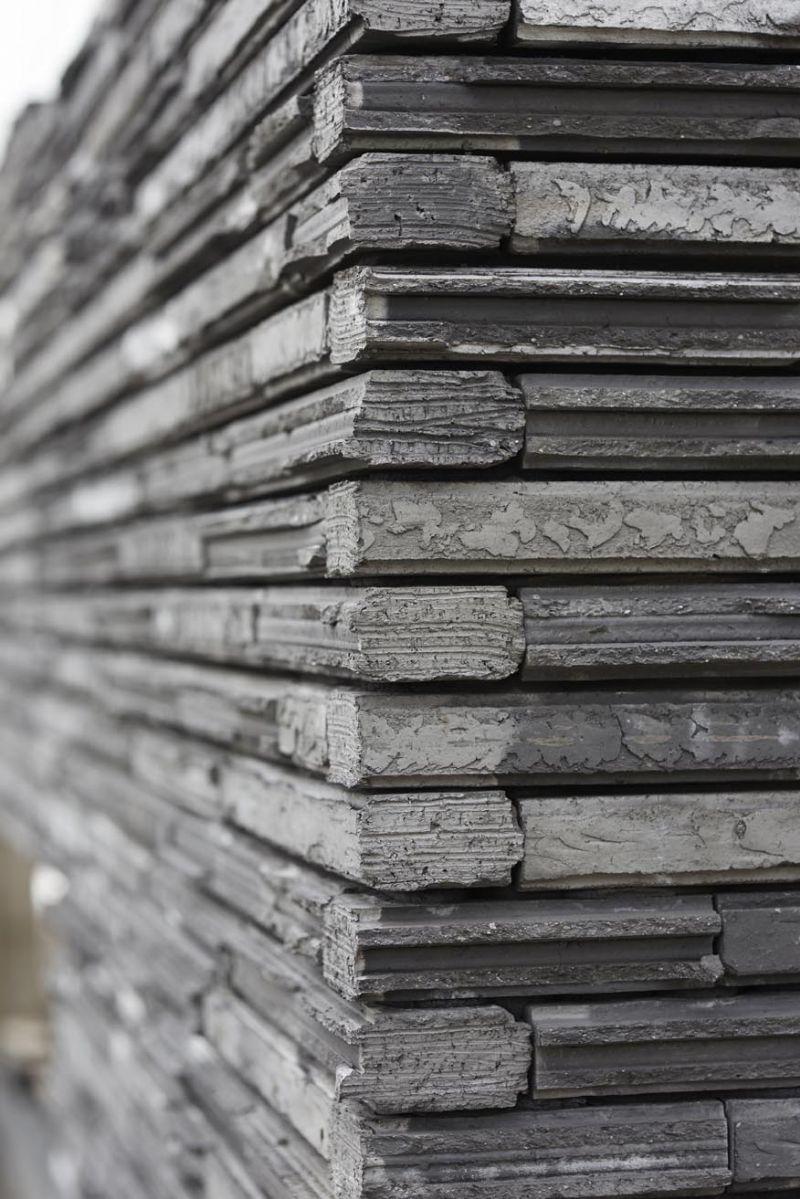 De Cassia gevelsteen is zeer vorstbestendig dankzij zijn lage porositeit.