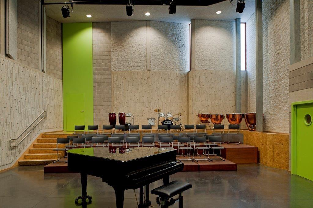 De Bachzaal, de nieuwe ondergrondse concertzaal. (Foto: Rimanque)
