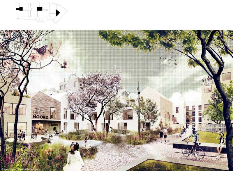 Het bouwproces is 'informeel en dynamisch': de mensen vullen de ruimte zelf in.