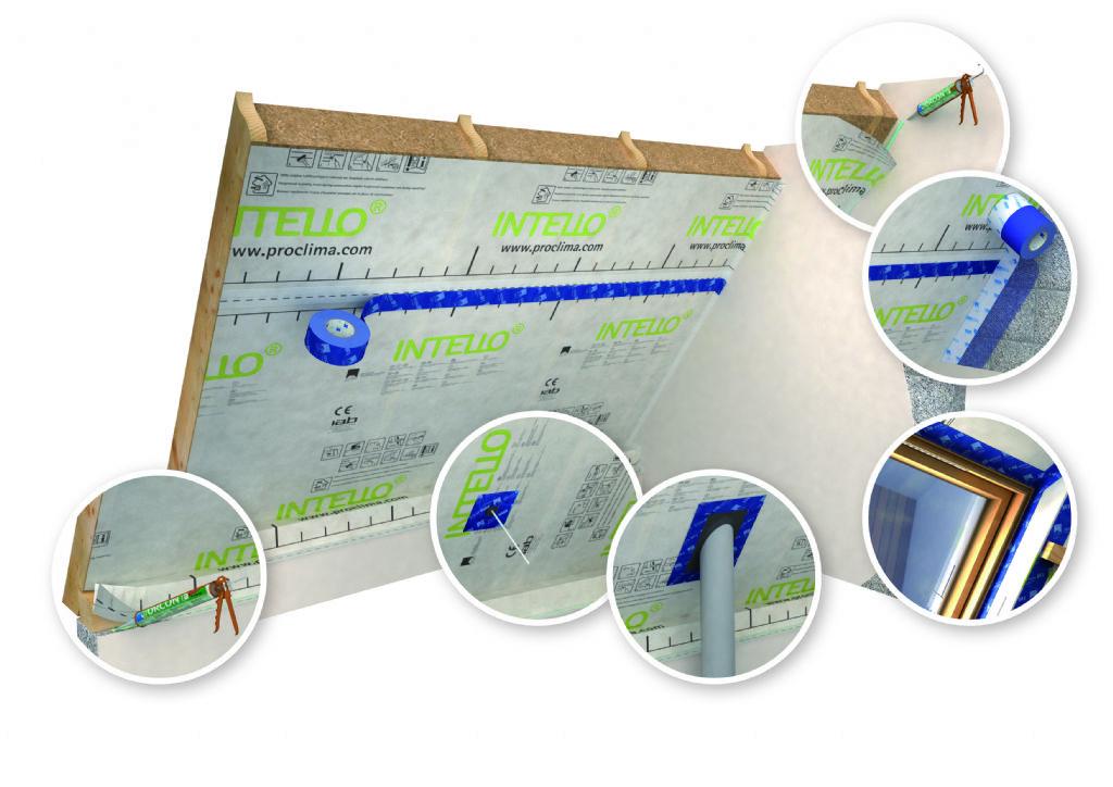 Eerste vochtvariabel luchtdichtingssysteem met keurmerk voor passief bouwen