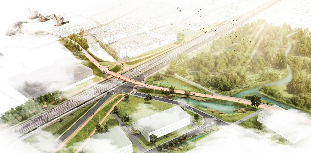 Ney & Partners + OMGEVING ontwerpen Krugerbrug in Antwerpen