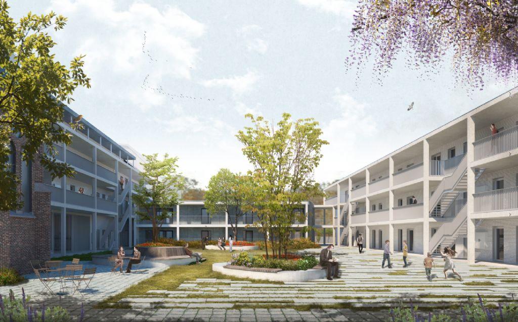 Abscis Architecten realiseert sociaal woonproject met knipoog naar kloosterverleden