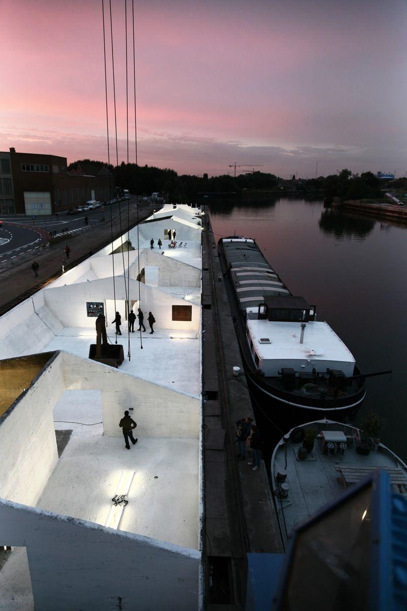 De grindbakken in Gent werden omgebouwd tot een openbaar kunsten- en activiteitencentrum.