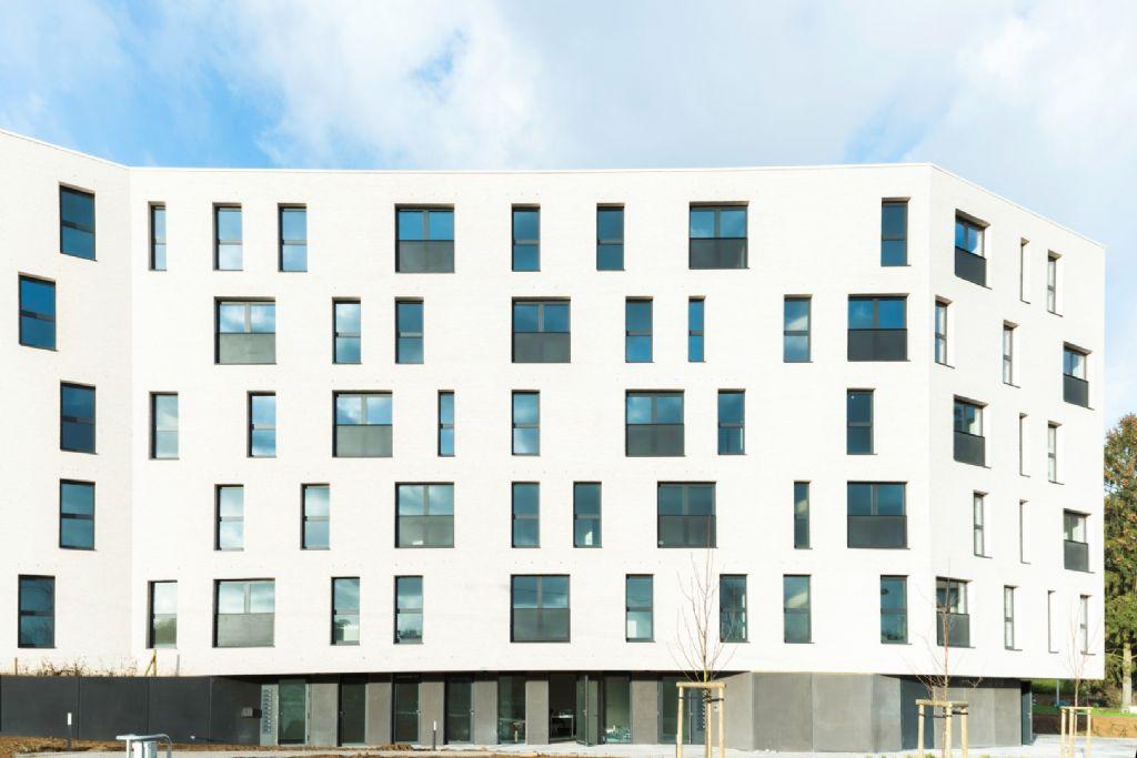 20 logements pour le Foyer wavrien (atelier d'architecture Mathen), lauréat dans la catégorie Habitat collectif
