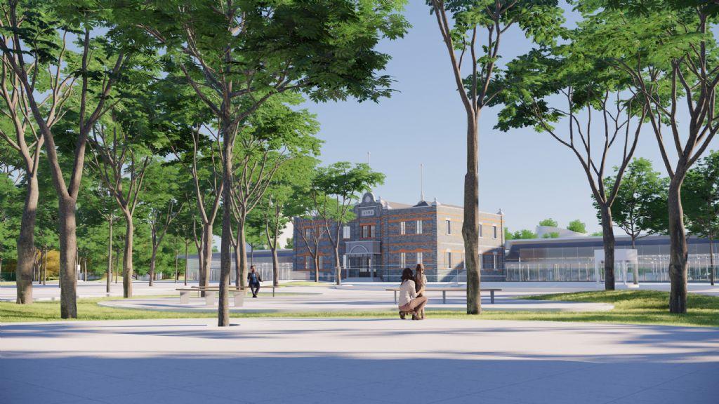 Het station zal klaar zijn in de zomer van 2021