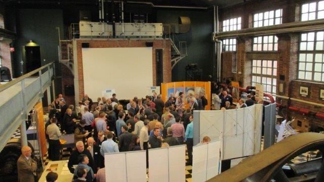 Heel wat geïnteresseerden woonden het FEREB-seminarie rond kathodische betonbescherming in Heverlee bij.