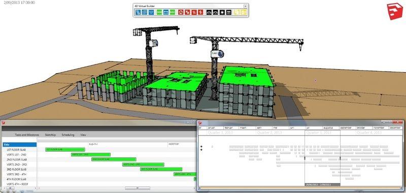 4DVB laat toe om de planning op een grafisch aantrekkelijke manier te visualiseren en zo beter te kunnen interpreteren, voor alle partners in het bouwproject.