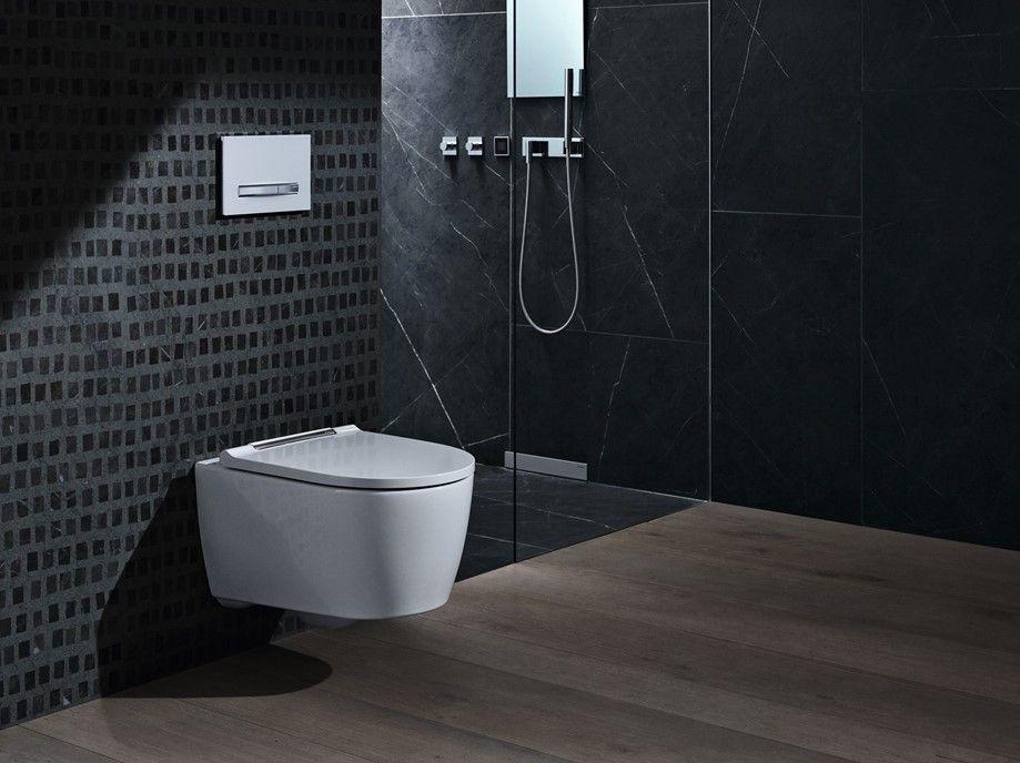 Combinatie van sanitairtechnische knowhow achter de wand met vakkundig design voor de wand