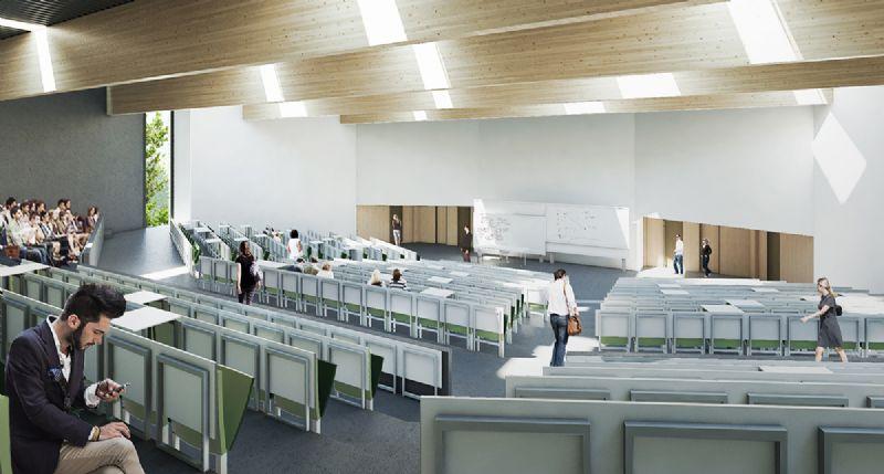 KU Leuven beoogt met dit project een goed functionerend gebouw waarin het ontwerp erin slaag een genius loci te creëren waar het voor studenten aangenaam vertoeven, verblijven, werken en samenwerken is.