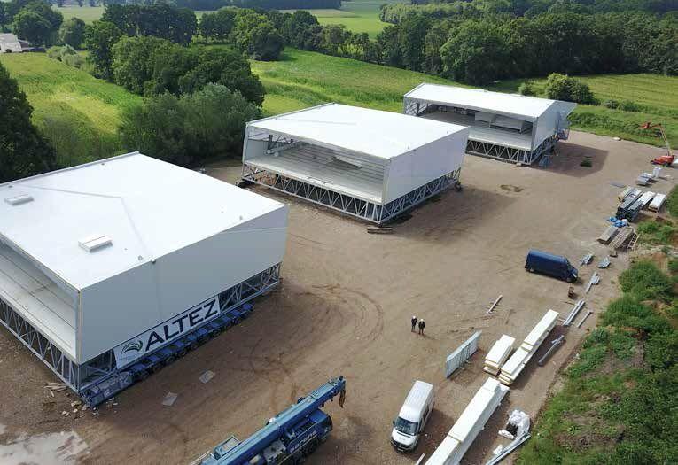 De aannemer opteerde ervoor om het nieuwe geheel op te delen in vijf kant-en-klare modules met lengtes van 24 meter en breedtes van 30 meter. (Beeld: Meco Metal - Altez Group)