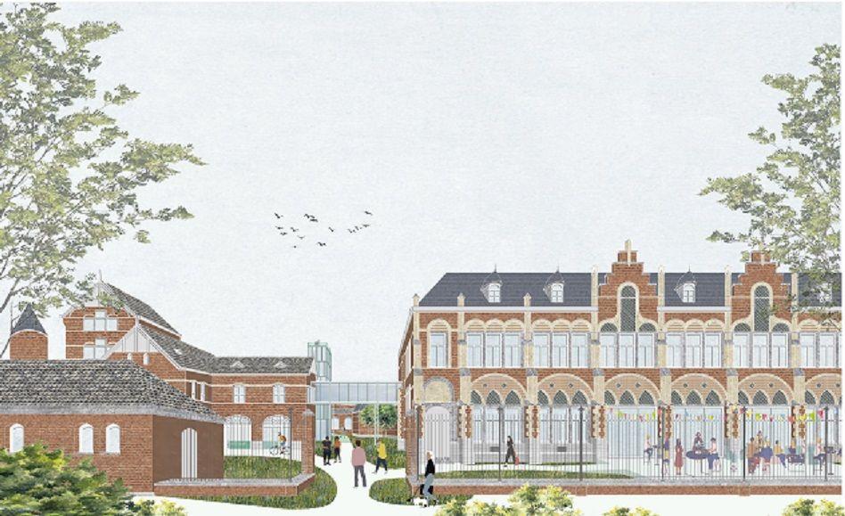 LAVA Architecten en Team van Meer transformeren neogotisch Rommelaere-complex in Gent tot open BEN-campus