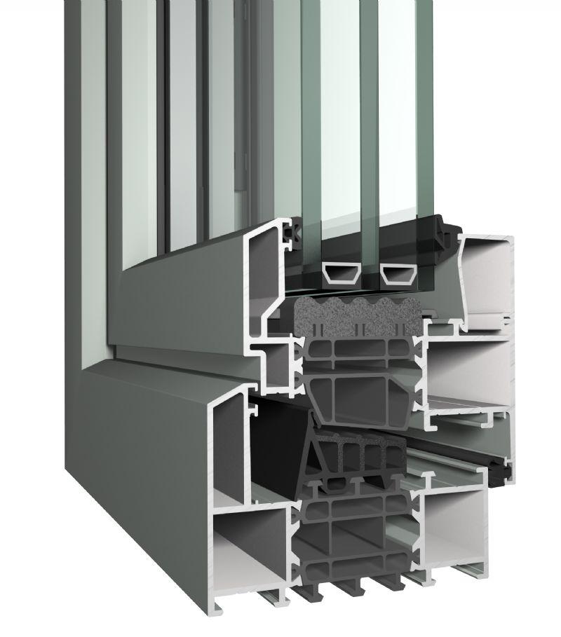Een Masterline 8-profiel met het Decodesign en isolatieklasse 'HI'.