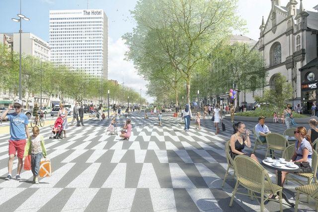 Gulden Vlies- en Waterloolaan: van stadssnelweg naar Brusselse Champs Elysées